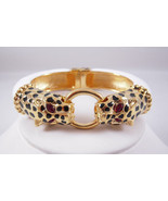 Kenneth Jay Lane Double Headed Leopard Bangle NWT - $164.84