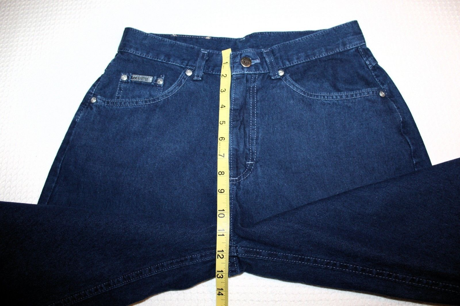 3dc9fd3c118 LEE RIVETED Women s Size 14 16 Indigo Blue Straight Tapered Leg Jeans 31