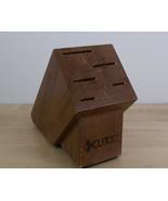 CUTCO 5 Slots Knife Block Wood Oak Countertop Storage Made in USA - $19.79