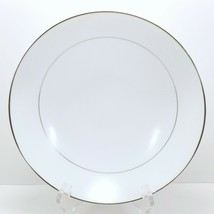 "Mikasa Citation Vegetable Serving Bowl 9"" White Platinum Trim 5428 - $18.81"