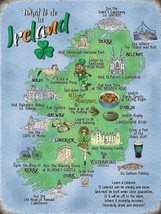 What To Do In Ireland Map Limerick Irish Landmarks Fridge Magnet - $3.83