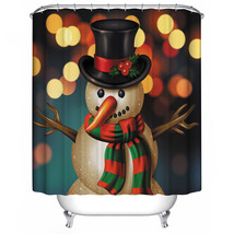 Natal Merry Christmas 114 Shower Curtain Waterproof Polyester Fabric For Bathroo - $33.30+