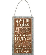 Primitives by Kathy Lake & Cabin Sign 5.25 x 9.5-Inch Camp Rules - $7.58