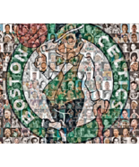 Boston Celtics Mosaic Print Art of over 70 of the Greatest Celtics Players - $39.00+