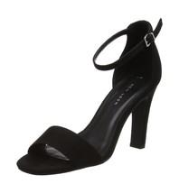 UK Ankle Black Look Black New Heels Womens 1 5 Strap Standard vanCwtCq