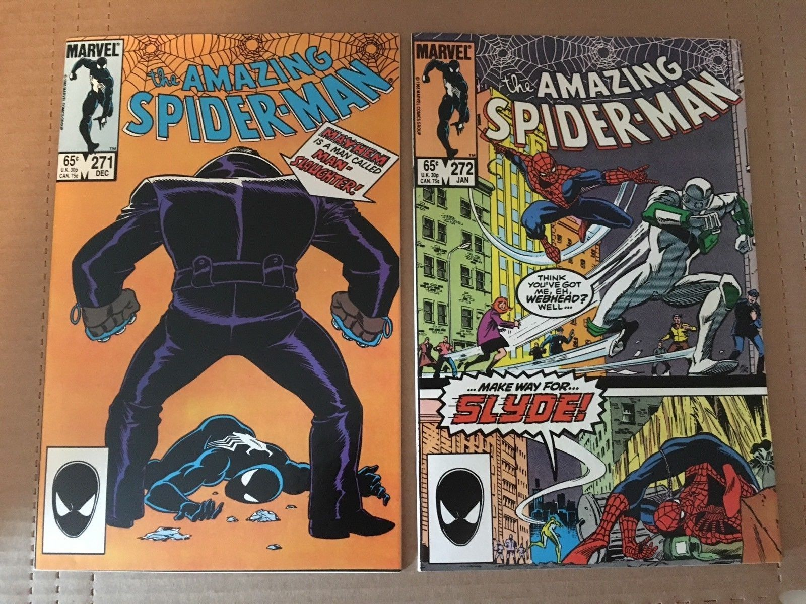 Amazing Spider-Man 270 271 Marvel Comic Book 1985 VF Condition
