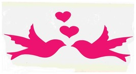 pink doves and hearts decal ideal cars, trucks, home etc easy to apply