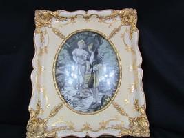 Antique Rare Framed S P Solomons Decorative Art Co. NY Tapestry - Bevel ... - $56.23