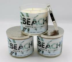 Bath & Body Works Copper Coconut Large Three Wick Jar Candle 14.5 oz Set... - $66.99