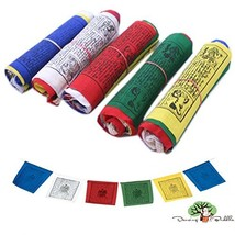 Dancing Buddha Buddhist Prayer Flags - Pack of 50 4.5In x 5.5In - $12.27