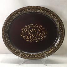 "Franciscan Jamoca Oval Serving Platter Tray 14 1/4""  Gold Brown - $19.79"