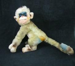 "Vintage Steiff Mungo Monkey Mohair Plush 1957 Swivel Head 9"" x 13"" Blue ... - $89.05"