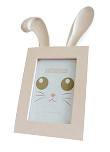 6 inch Wooden Picture Frame Unique Picture Frames Photo Frame Rabbit Ears