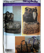Simplicity 4582, Six Totes, Luggage Totes, Carry-ons, Small Large Sizes  - $10.00