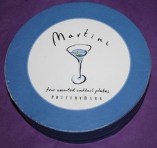 Pottery Barn   *MARTINI - COCKTAIL PLATES*  appetizer/dessert plates in ... - $24.99