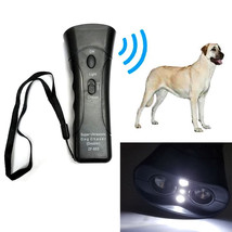 Super Ultrasonic Super Dog Chaser Repeller Double-Heads Stop attack w LE... - $9.79