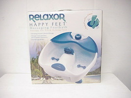 RELAXOR HAPPY FEET MASSAGING FOOTBATH MODEL #FM14W - $800,31 MXN