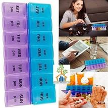 Weekly Pill Box AM PM Pods Reminder Medication Organizer Planner - $276,30 MXN