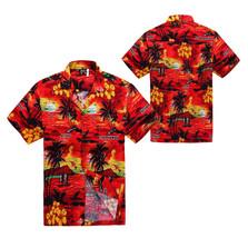 Men's Hawaiian Aloha Beach Tropical Luau Party Button Up Casual Dress Shirt XL