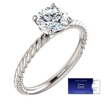 1.00 Carat Moissanite (Forever One) and Ring in 14K Gold (Charles & Colv... - $799.00