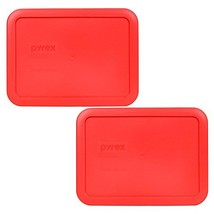 Pyrex 7210-PC Rectangle Red 3 Cup Storage Lid for Glass Dish 2, Red - $8.46