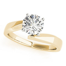 Solitaire Swirl Diamond Engagement Ring, Yellow Gold by MDC Diamonds New... - $2,165.00