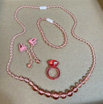 Pretty Pretty Princess Cinderella Replacement Parts PINK Necklace Bracelet Ring - $14.35