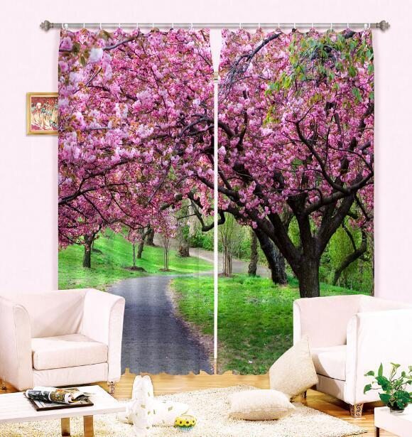 Primary image for 3D Trees Flower Blockout Photo Curtain Printing Curtains Drapes Fabric Window CA
