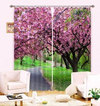 3D Trees Flower Blockout Photo Curtain Printing Curtains Drapes Fabric W... - $147.54+