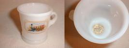 milk glass cup shaving mug train engine coffee avon blend 7  sticker - $33.88