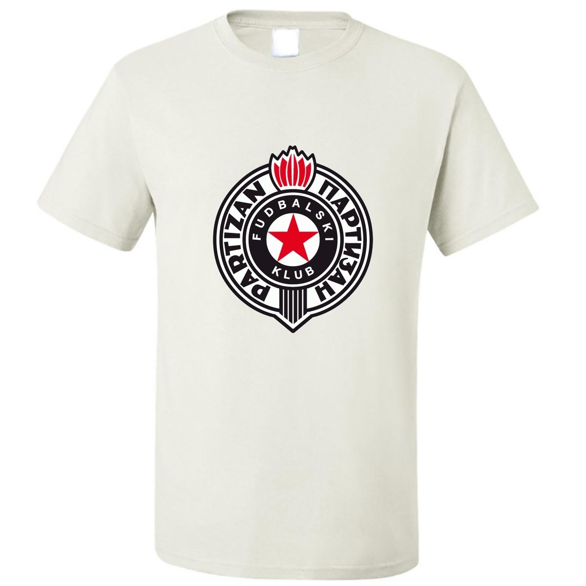 Used, SOCCER European Club Teams Partizan Belgrade Logo 0390 T-Shirt for sale  USA