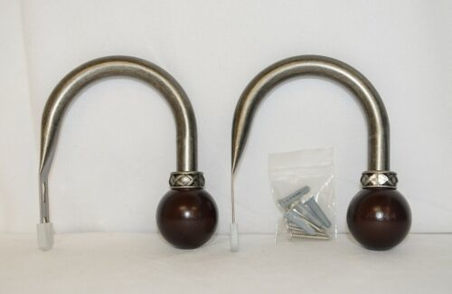 Kirsch Regency Collection 60111011 Antique Pewter Curtain Hold Backs