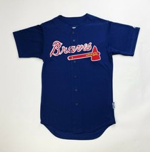 Majestic Atlanta Braves Full Button Baseball Jersey Men's Small Medium L... - $19.99