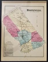 1872 antique HOPEWELL PA MAP cumberland atlas Clover Hill Jackson Pleasa... - $42.50