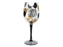 Lolita Blinging In the New Year Wine Glass Retired Rare Christmas Resolu... - $186.07
