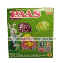PAAS* 127pc Easter Egg CLASSIC Stickers DECORATING KIT Red+Teal+Denim+Gr... - $2.98