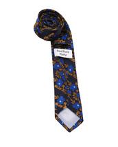 Berlioni Italy Men's Classic Paisley Striped Necktie Tie Handkerchief Gift Set image 4