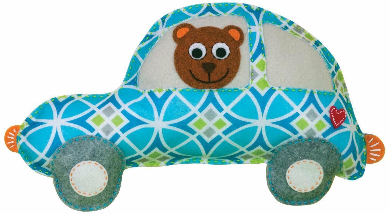 Dimensions Needlecrafts Baby Hugs Happi Bear Felt Applique Stuffable Pillow Kit - $7.60