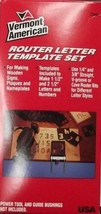 Vermont American 23455 Router Letter Template Set USA - $17.82