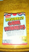 1987 Fleer Baseball Game Winners 44 Card Set - $7.57