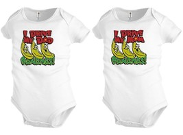 I drive MOM DAD bananas Baby shirt Bodysuit Infant toddler Shower party ... - $12.99