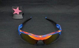 Oakley Radar Path Distressed Blue w/ Fire Iridium Special Edition New - $159.99