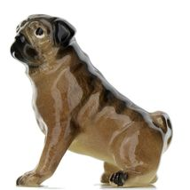 Hagen Renaker Dog Pug Mama Tan Ceramic Figurine image 3