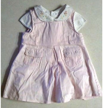 Girl's Size 6 M Months 2 Piece Pink Dress Set Floral Embroidered - $8.00