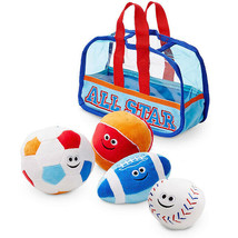 Sports Bag Fill and Spill Classic Toys First Play Soft toys Set of 4 Bal... - $23.31