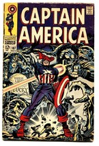 Captain America #107 comic book-jack Kirby-marvel 12 Cent VG - $30.26