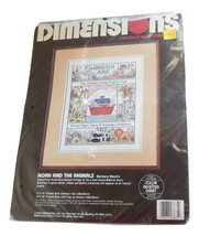 Dimensions Counted Cross Stitch Kit Noah And The Animals Noah's Ark 3685 - $11.95