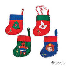 Mini Holiday Stockings - Christmas Party Supplies & Decorations & Home D - $8.36