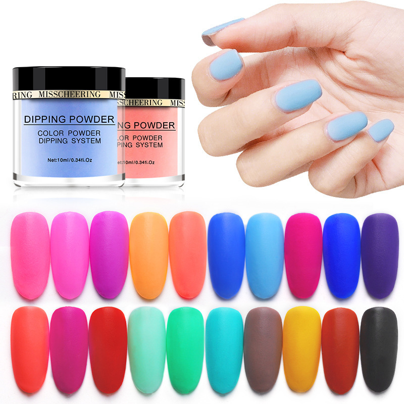Matte Color Manicure Powder Nail Dipping Powder Nail Art Decorations  06 image 7