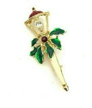 VTG Christmas Light Post Lapel Pin - $14.96